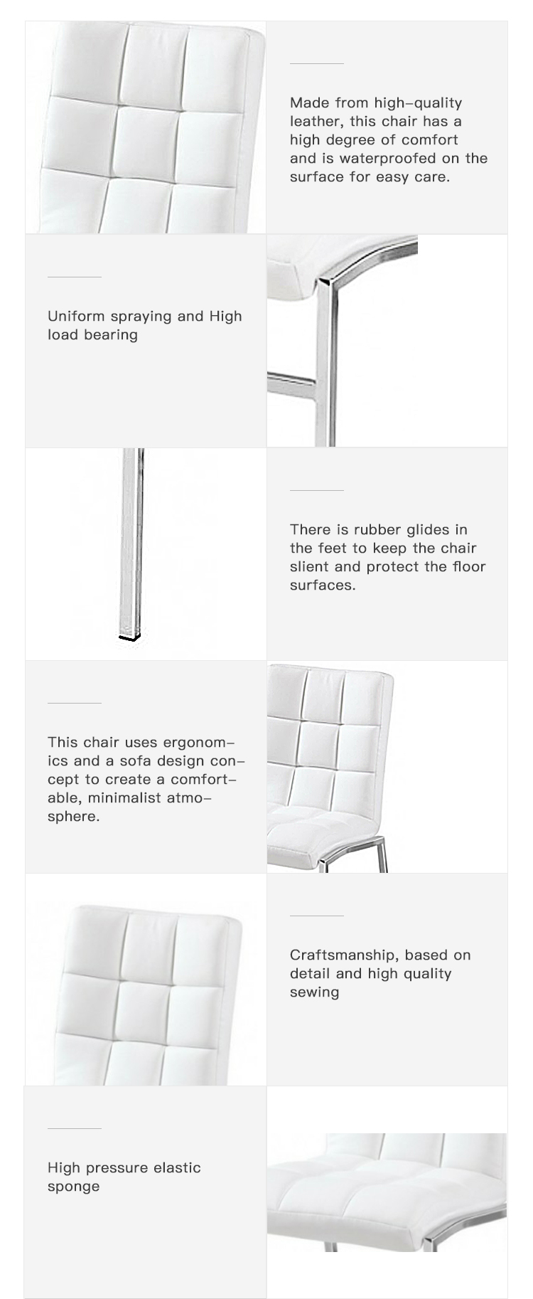 Cool Living Room Furniture Pu Leather Dining Chair With Chromed Machost Co Dining Chair Design Ideas Machostcouk
