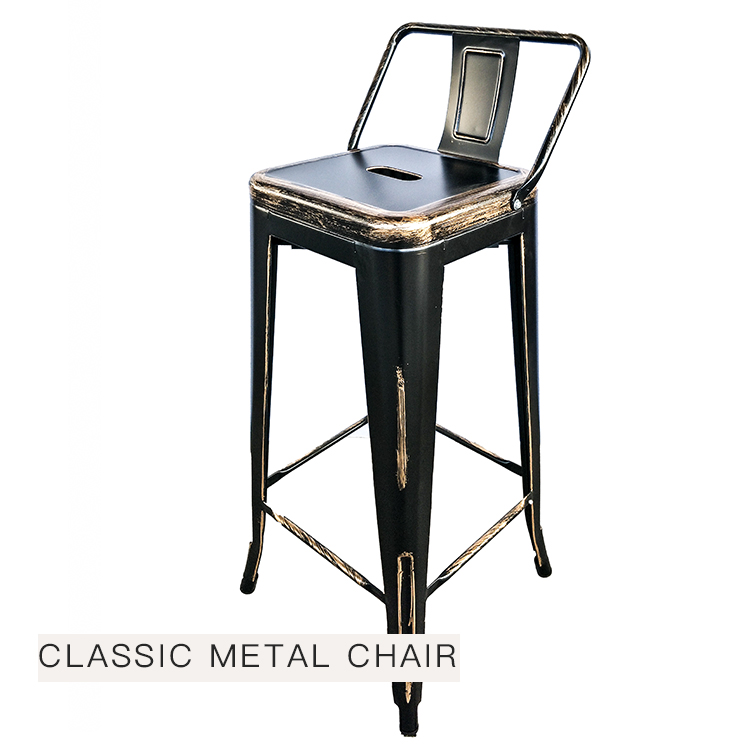 Fabulous Cafe Metal Sillas Vintage Bar Stool Chair With Wooden Seat Spiritservingveterans Wood Chair Design Ideas Spiritservingveteransorg