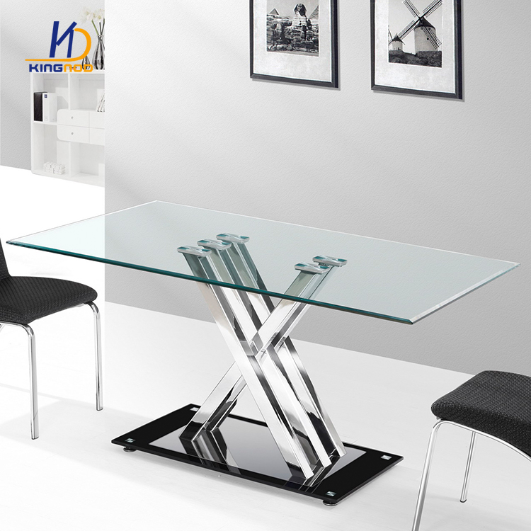 High Quality Dining Table Tempered Glass Dining Room Tables Dt 812 Tianjin Kingnod Furniture Co Ltd