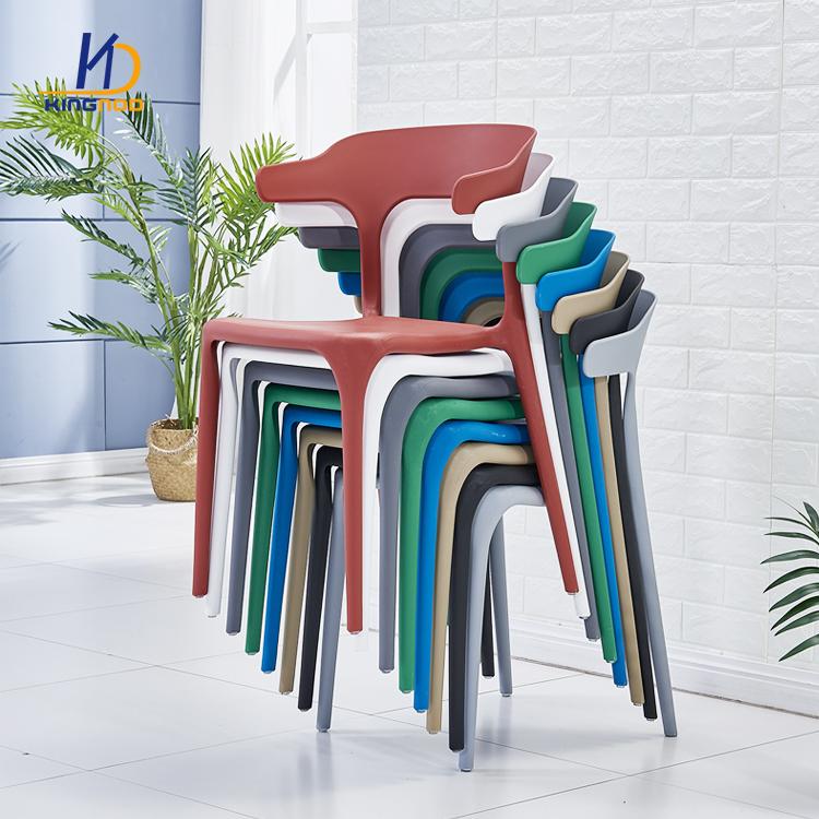 Wholesale Cheap Plastic Chairs Cafe Shop Stackable Plastic