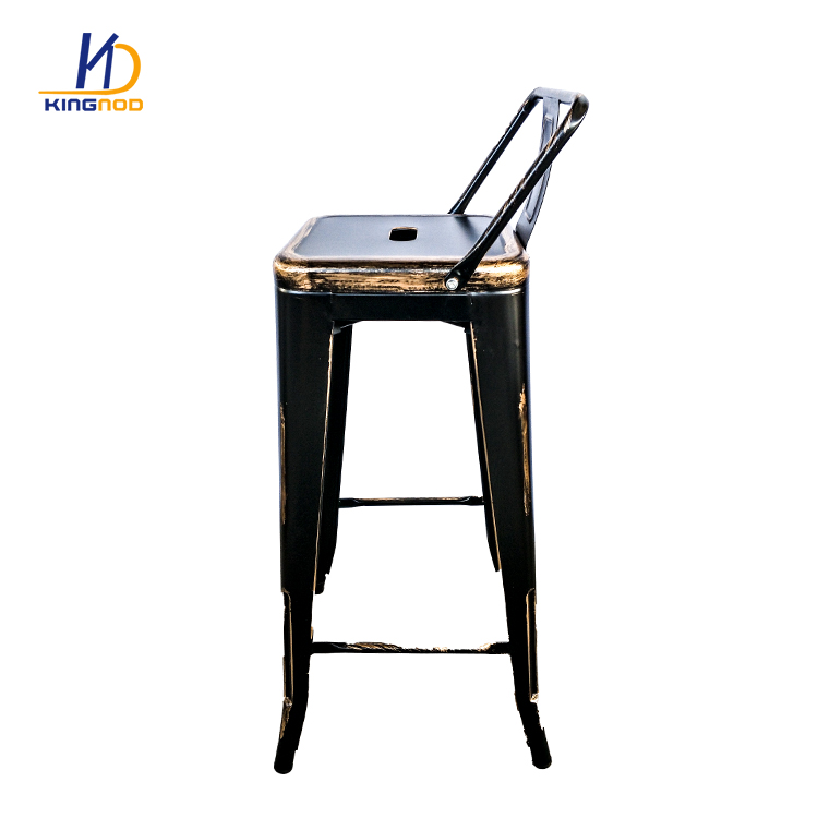 Surprising Cafe Metal Sillas Vintage Bar Stool Chair With Wooden Seat Spiritservingveterans Wood Chair Design Ideas Spiritservingveteransorg