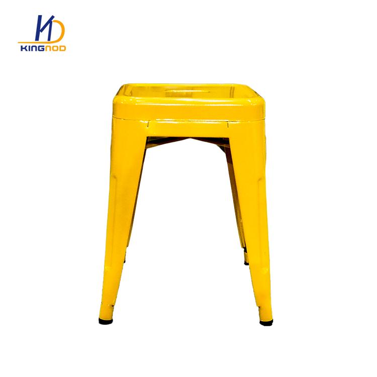 Bar Furniture Colored Outdoor Metal Bar Stool Set C 234