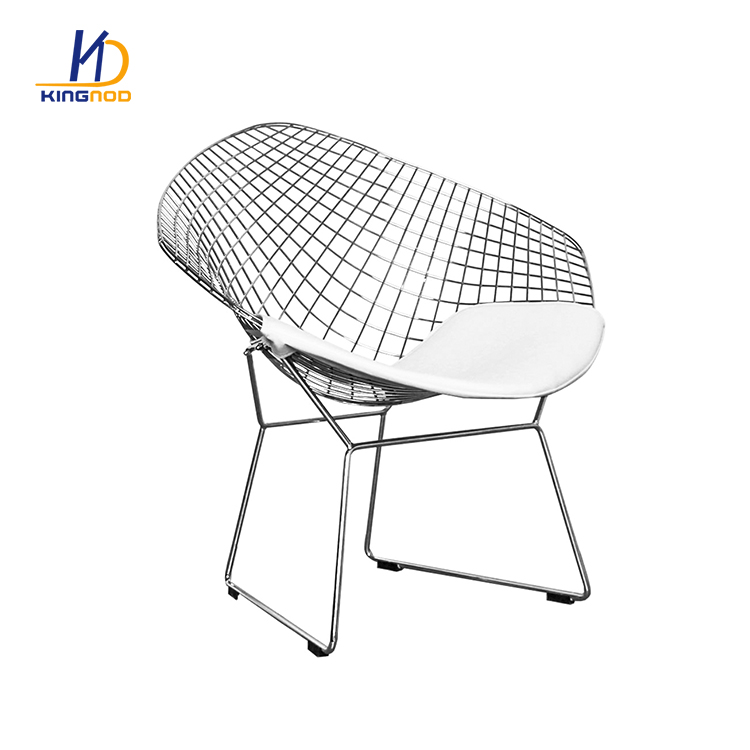 Magnificent Garden Furniture Outdoor Black Metal Steel Wire Outdoor Short Links Chair Design For Home Short Linksinfo